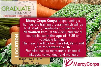 Practical horticulture training program graduate farmer mercy corps kenya is sponsoring a horticulture training program which will be facilitated by graduate farmer to train 50 women from uasin gishu and nandi solutioingenieria Choice Image
